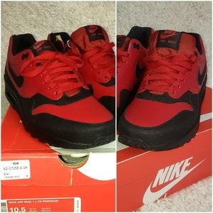 Nike Air Max 1 LTR Premium red black